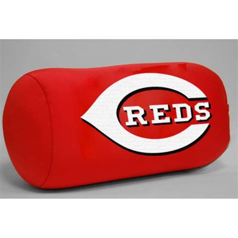 cincinnati reds mlb 14 quot x 8 quot beaded spandex bolster pillow