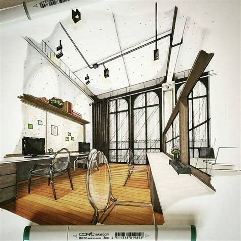 Marker Rendering Interior Design by 25 Best Ideas About Interior Sketch On