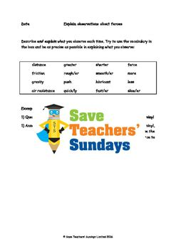 Friction And Gravity Worksheet