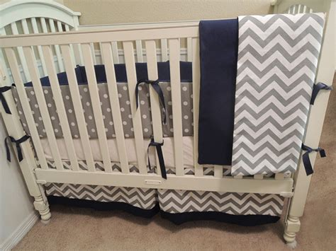 Navy And Gray Nursery Bedding Thenurseries All Crib Bedding