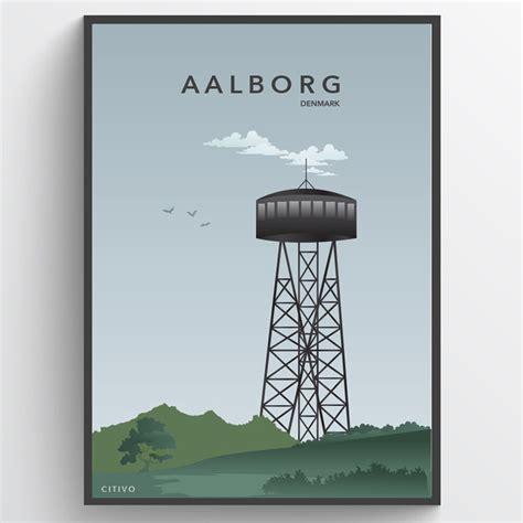 Plakat Aalborg by Aalborg T 229 Rnet Plakat Wallsticker Fra Kun 149 Kr