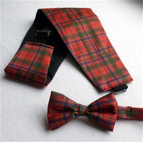 sta shop cummerbund and bow tie set in any tartan