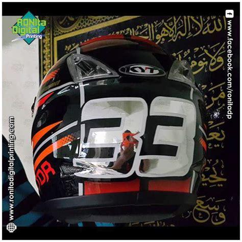 design helm sendiri repaint helm pusatnya sticker vinyl custom helmet dan