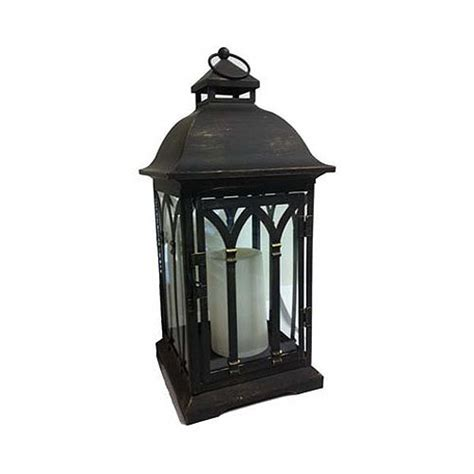 Lantern L by Northern Int L Gl28707bkbz Battery Operated Lantern Black