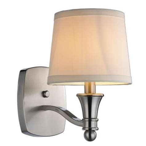 hton bay bathroom lighting hton bay towne collection 1 light wall sconce brushed