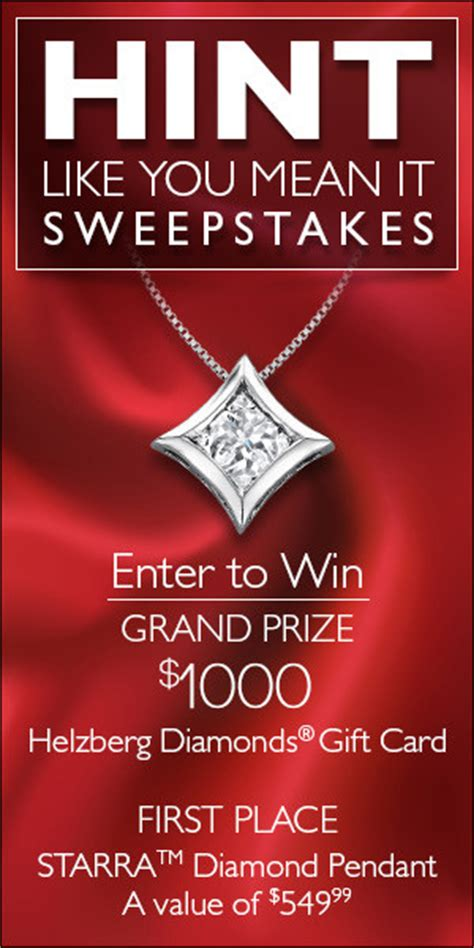 Meaning Of Sweepstakes - helzberg diamonds hint like your mean it sweepstakes helzberghints jen is on a journey