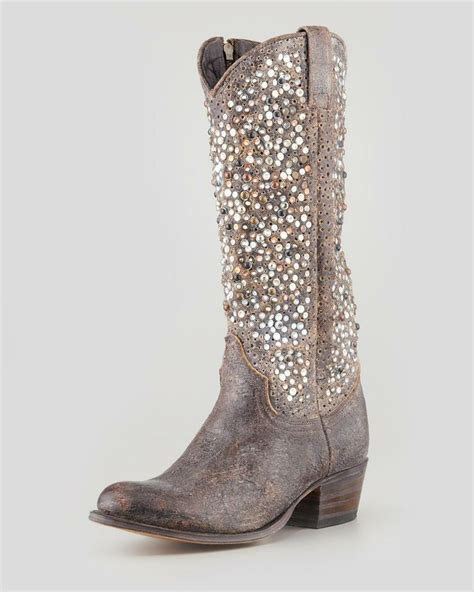 frye studded boots frye deborah studded vintage leather boot on the cusp