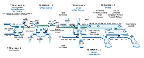 houston terminal e map houston intercontinental iah airport map united airlines