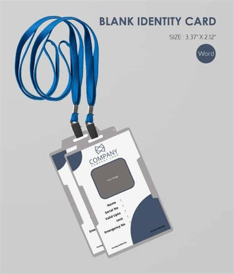 id tag template 30 blank id card templates free word psd eps formats