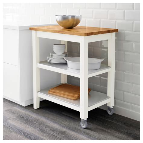 ikea kitchen island cart stenstorp kitchen trolley white oak 79x51x90 cm ikea