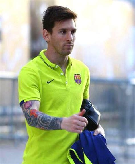 messi tattoo full sleeve image lionel messi shows off horrendous full sleeve