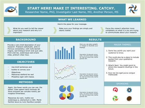 research poster template a starting point for your poster