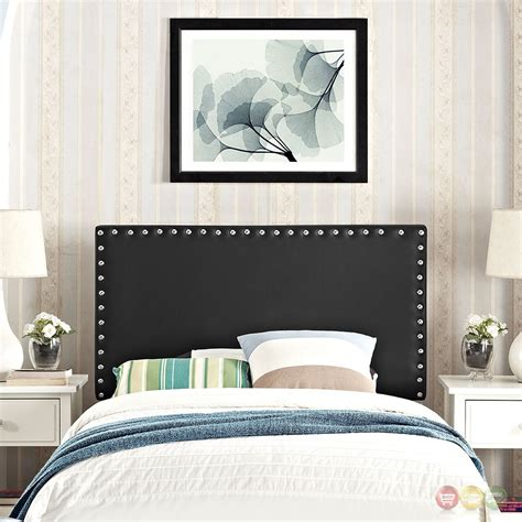 headboard with nailheads phoebe square twin vinyl headboard with silver nailheads