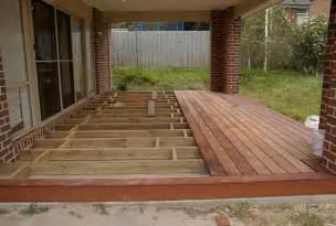 building a deck building a floating deck concrete slab hardscape