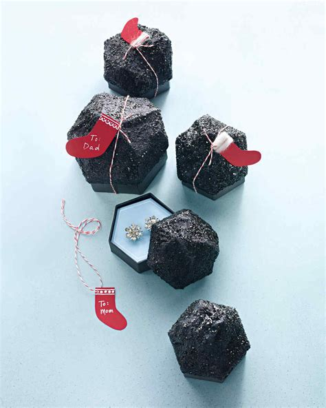 lump of coal gift box with a secret martha stewart
