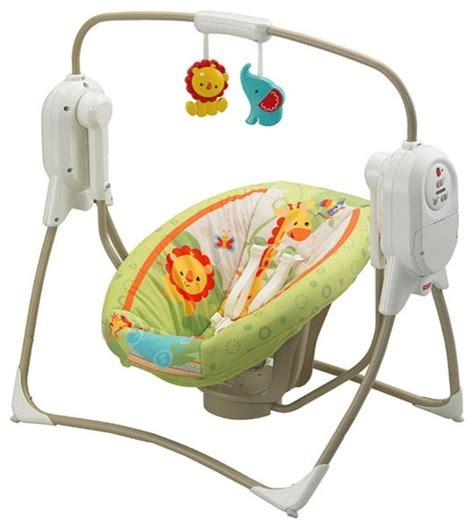 fisher price bouncers and swings fisher price rainforest friends spacesaver cradle swing