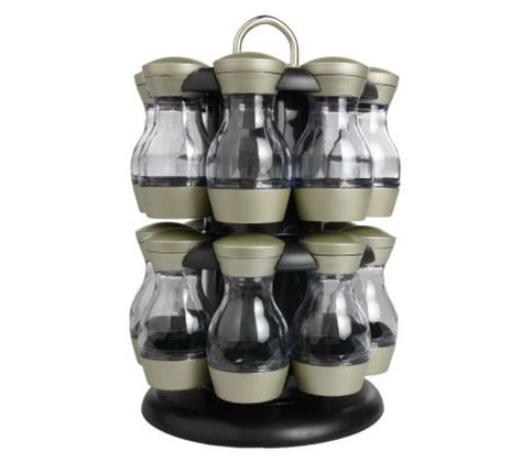 Revolving Spice Rack With 16 Spices kamenstein 16 jar revolving spice rack with spices qvc
