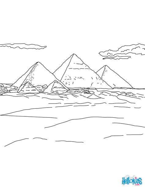 drawing pyramids of giza images