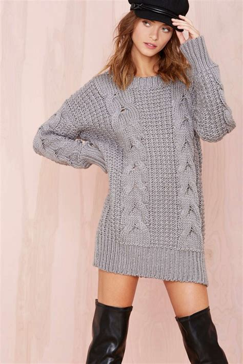grey cable knit sweater dress bomb product of the day unif s reverb gray cable knit