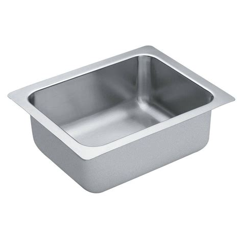moen undermount bathroom sinks moen 1800 series undermount stainless steel 16 in single