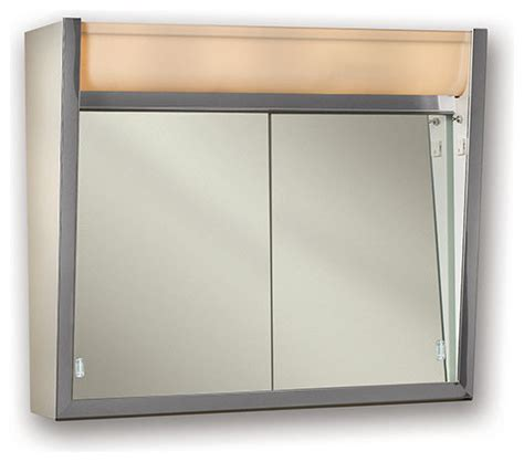 Lighted Medicine Cabinet by Ensign 24 Quot X23 1 2 Quot Surface Mount Lighted Medicine Cabinet