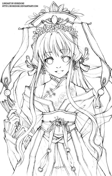coloring book artist hana hime lineart by kuridoki on deviantart