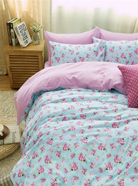 pink teen bedding colorful mart plants and flowers floral pink bedding
