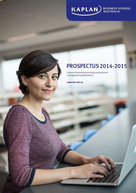 Kaplan Business School Australia Mba by Kaplan Business School Prospectus 2014 15 By Kaplan