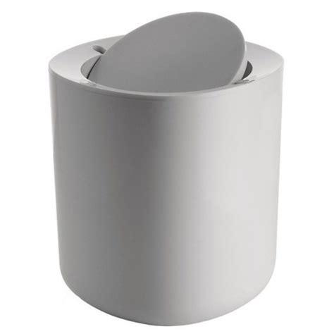 accessori bagno alessi cestino da bagno bianco grigio scuro pmma serie