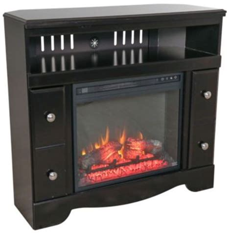 shay corner tv stand with fireplace insert
