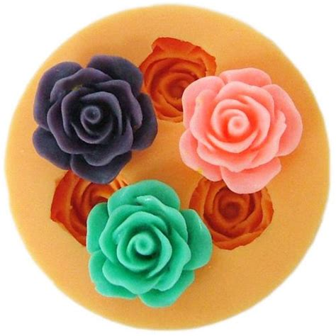 Cake Decorating Flower Molds by 1 8cm Flower Earring F0110 Silicone Fondant Mini Mold