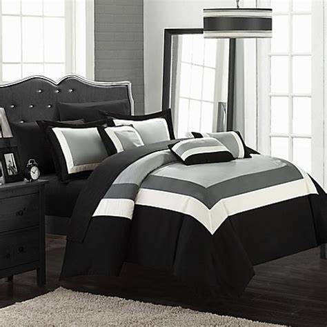 dylan comforter set buy chic home dylan 10 piece king comforter set in black
