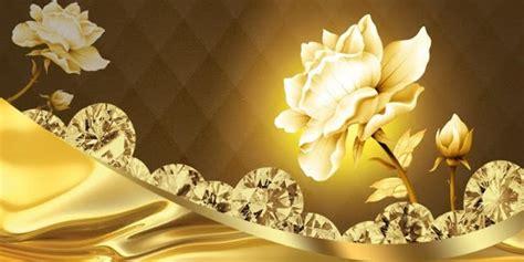 jewellery flower diamond background wall 3d wallpaper golden diamond flowers 1 1 5 apk