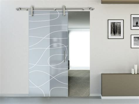 audasso porte interne external sliding door in frosted glass