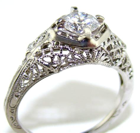 antique filigree ring style two the jewelers guild