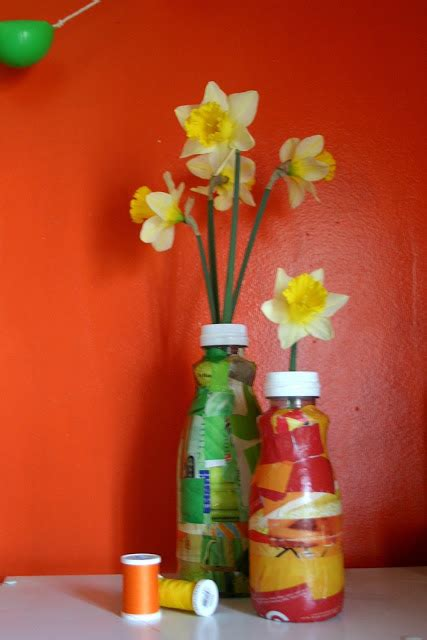 How To Make A Vase With Plastic Bottle by Diy Mothers Day Gift Repurposed Flower Vase