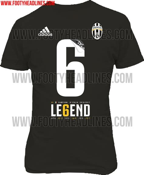 Tshirt Scudetto Juventus Legend Le6end this image shows the shirt designed by adidas to