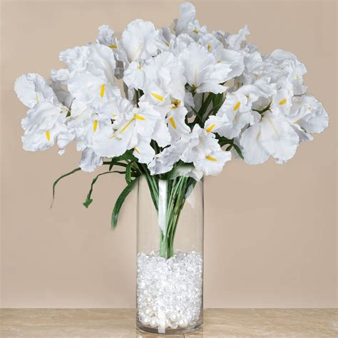 4 Large Silk Iris Bushes 36 Wedding Party Artificial Silk Flower Wedding Centerpieces
