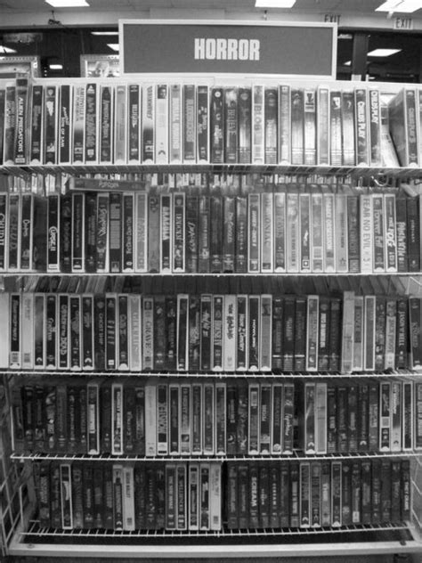 horror section i miss wandering around the horror section of video rental
