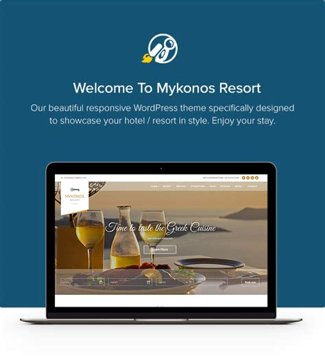 hotel theme themeforest mykonos resort hotel theme for wordpress by
