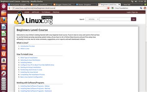 linux tutorial with practical learning linux free online books and practical help tips