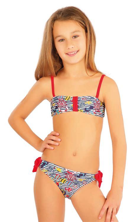 little swimsuit litex girls swimwear girls swim bandeau bra litex