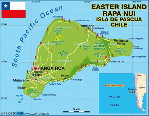 world map easter island map of easter island chile map in the atlas of the