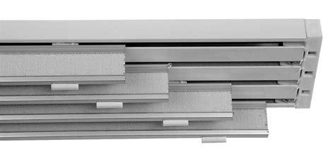 rotaia per tende binario bianco da 250 cm 4 vie per tende a pannello da 70 cm