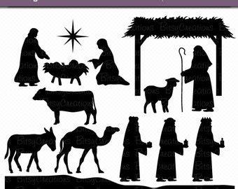 Nativity Silhouette Etsy Nativity Silhouette Template