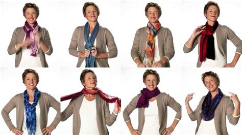 fashionable ways to tie a scarf
