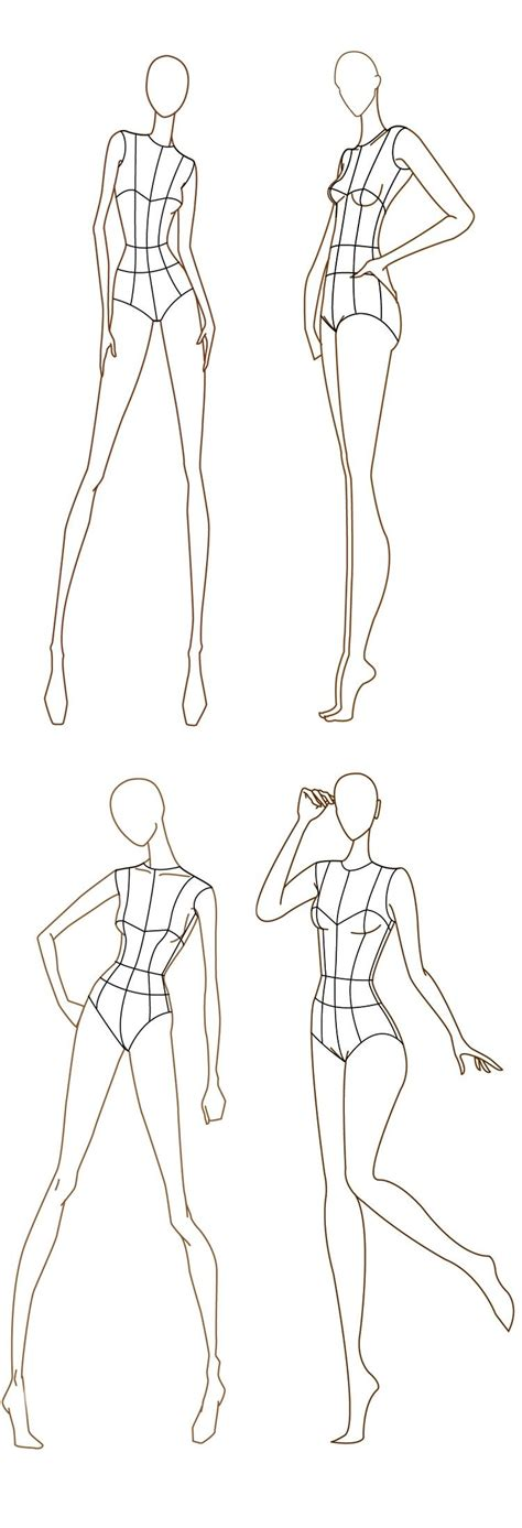 Free Fashion Croquis 120 Fashion Figure Templates Love This Idea Pinterest Fashion Fashion Drawing Template