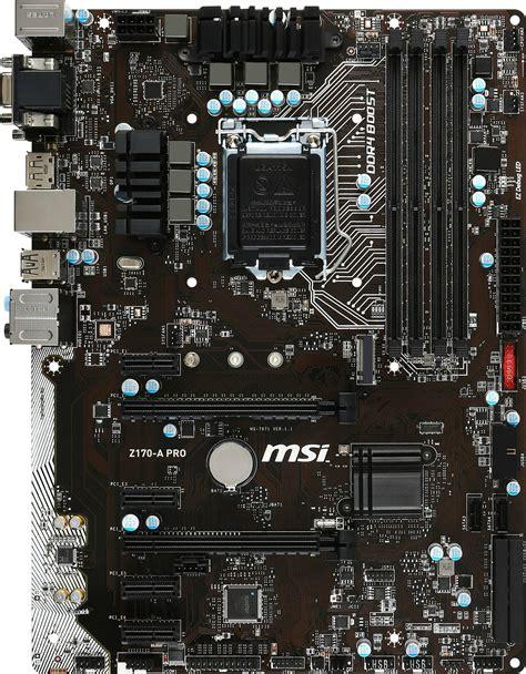 Msi Z170 A Pro msi z170 a pro 7971 013r heise preisvergleich
