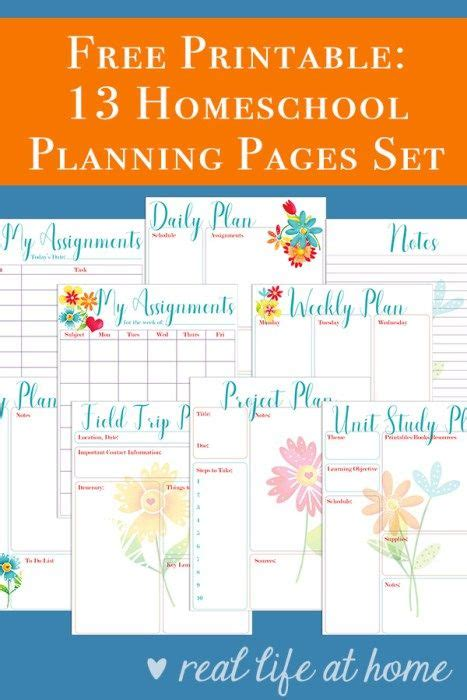 printable homeschool planner pages 365 best homeschool planning and organization images on