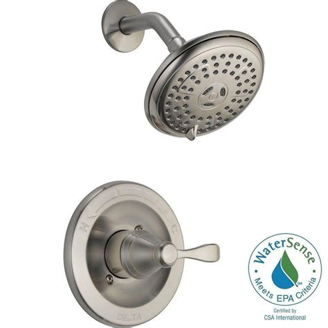 Delta 3 Handle Shower Faucet by Delta Porter Single Handle 3 Spray Shower Faucet In